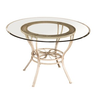 Hillsdale Furntiure Napier Round Dining Table in Aged Ivory