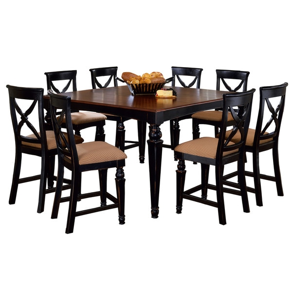 Hillsdale Furniture Northern Heights Black And Brown Wood 9 Piece Counter Height  Dining Set