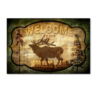 LightBoxJournal 'Welcome Lodge Elk' Canvas Art