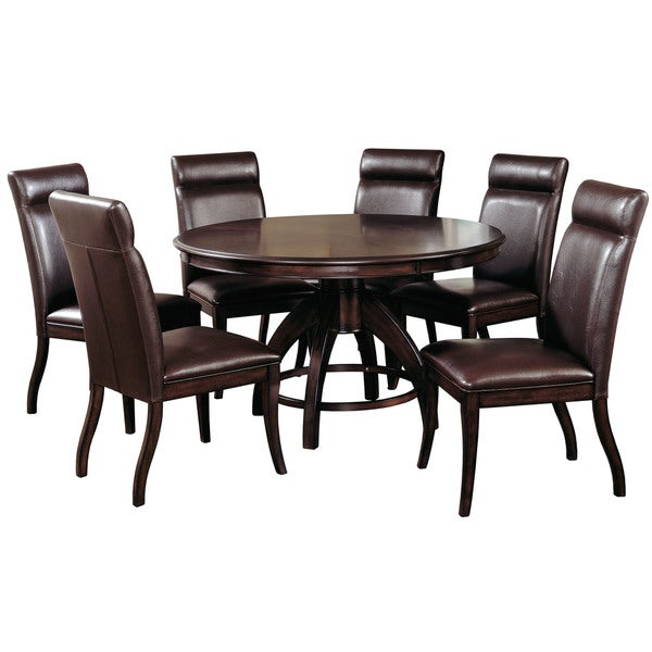 Hillsdale Furniture Nottingham Dark Walnut 7 Piece Dining Set