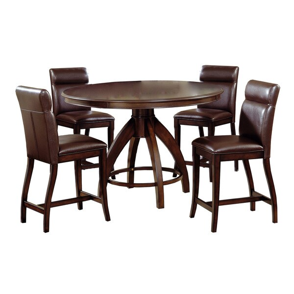 Hillsdale Furniture Nottingham Dark Walnut 5 Piece Counter Height Dining Set