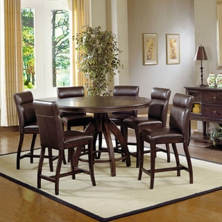 Hillsdale Furniture Nottingham Dark Walnut 7-piece Counter-height Dining Set