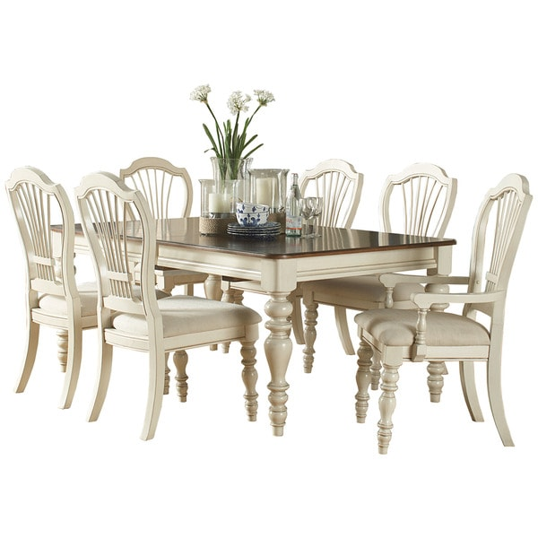 Shop Hillsdale Furniture Pine Island White Wood 7 Piece Dining Set