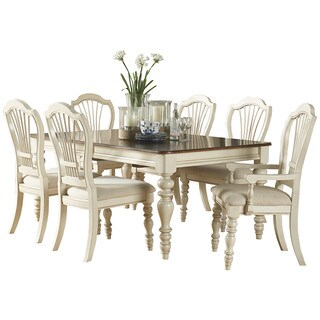 Hillsdale Furniture Pine Island White Wood 7-piece Dining Set