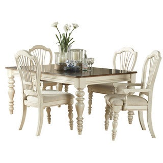 Hillsdale Furniture Pine Island Old White Finish 5-piece Dining Set With Wheat Back Chairs