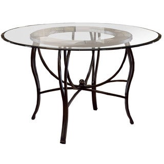 Hillsdale Furniture Pompeii Dining Table in Black Gold/ Slate Mosaic Finish