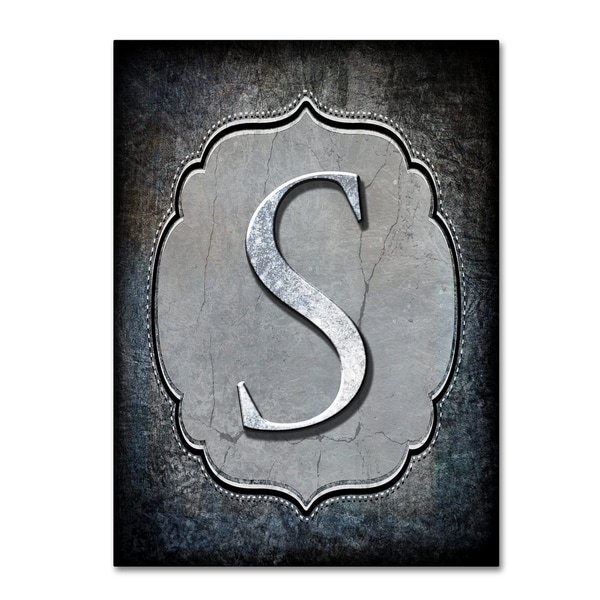 LightBoxJournal 'Letter S' Canvas Art