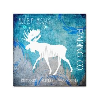 LightBoxJournal 'Polar Ice Moose' Canvas Art
