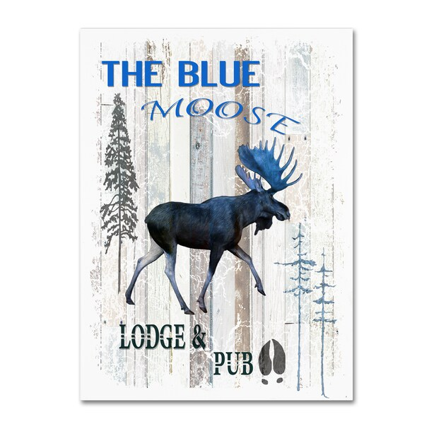 LightBoxJournal 'The Blue Moose' Canvas Art