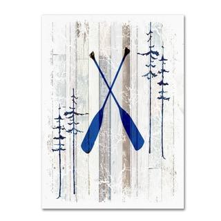 LightBoxJournal 'The Blue Moose - Oars' Canvas Art