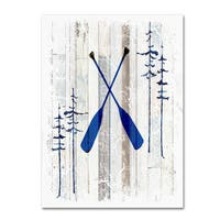 LightBoxJournal 'The Blue Moose - Oars' Canvas Art