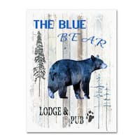 LightBoxJournal 'The Blue Bear' Canvas Art