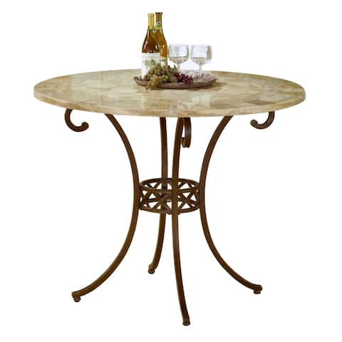 Hillsdale Furniture Brookside Brown Powdercoat Counter Height Table