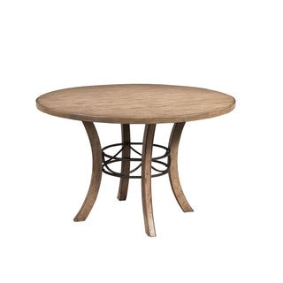 Hillsdale Furniture Charleston Tan-finished Wood Round Table with Metal Ring