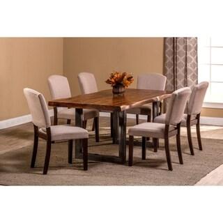 Hillsdale Furniture Emerson Natural Sheesham/Metal 7-piece Dining Set