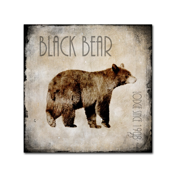 LightBoxJournal 'Moose Lodge 2 - Black Bear' Canvas Art
