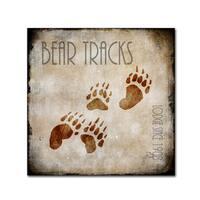 LightBoxJournal 'Moose Lodge 2 - Bear Tracks' Canvas Art