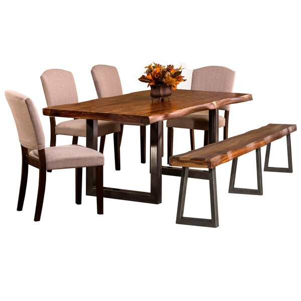Hillsdale Furniture Emerson Brown Wood 6 Piece Dining Set