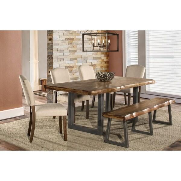 Hillsdale Furniture Emerson Brown Wood 6-piece Dining Set