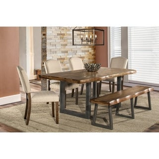 Hillsdale Furniture Emerson Brown Wood 6-piece Dining Set