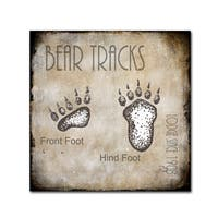 LightBoxJournal 'Moose Lodge 2 - Bear Tracks 2' Canvas Art