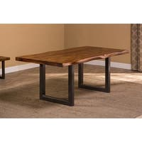 Hillsdale Furniture Emerson Natural Sheesham Metal/Wood Rectangle Dining Table
