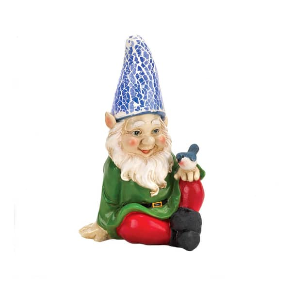Cheery Gnome Solar Garden Statue