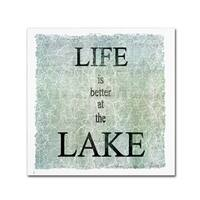 LightBoxJournal 'Life Is Better At The Lake' Canvas Art