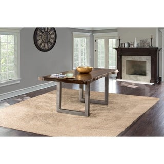 Hillsdale Furniture Emerson Grey Sheesham Rectangular Dining Table
