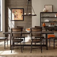 Pine Canopy Helena Brown Wood 7-piece Dining Set