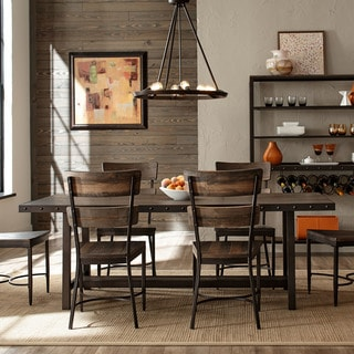hillsdale furniture jennings brown wood 7piece dining set