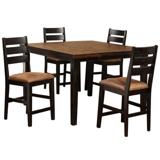 Hillsdale Furniture Killarney Black Metal 5-piece Counter-height Dining Set with Ladder Back Stools