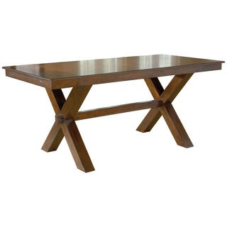 Hillsdale Furniture Park Avenue Dark Cherry Finish Wood Counter Height Trestle Table