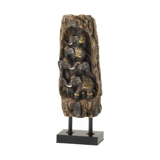 Koehler home decor Carved Elephant Totem Decor