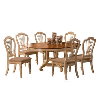 Hillsdale Furniture Wilshire Antique White Finish 7 Piece Round Dining Set  With Side Chairs