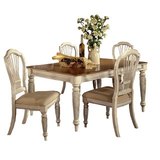Hillsdale Furniture Wilshire White Wood 5-piece Dining Set