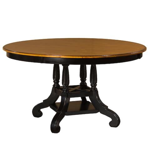 Hillsdale Furniture Wilshire Rubbed Black Wood Round Table