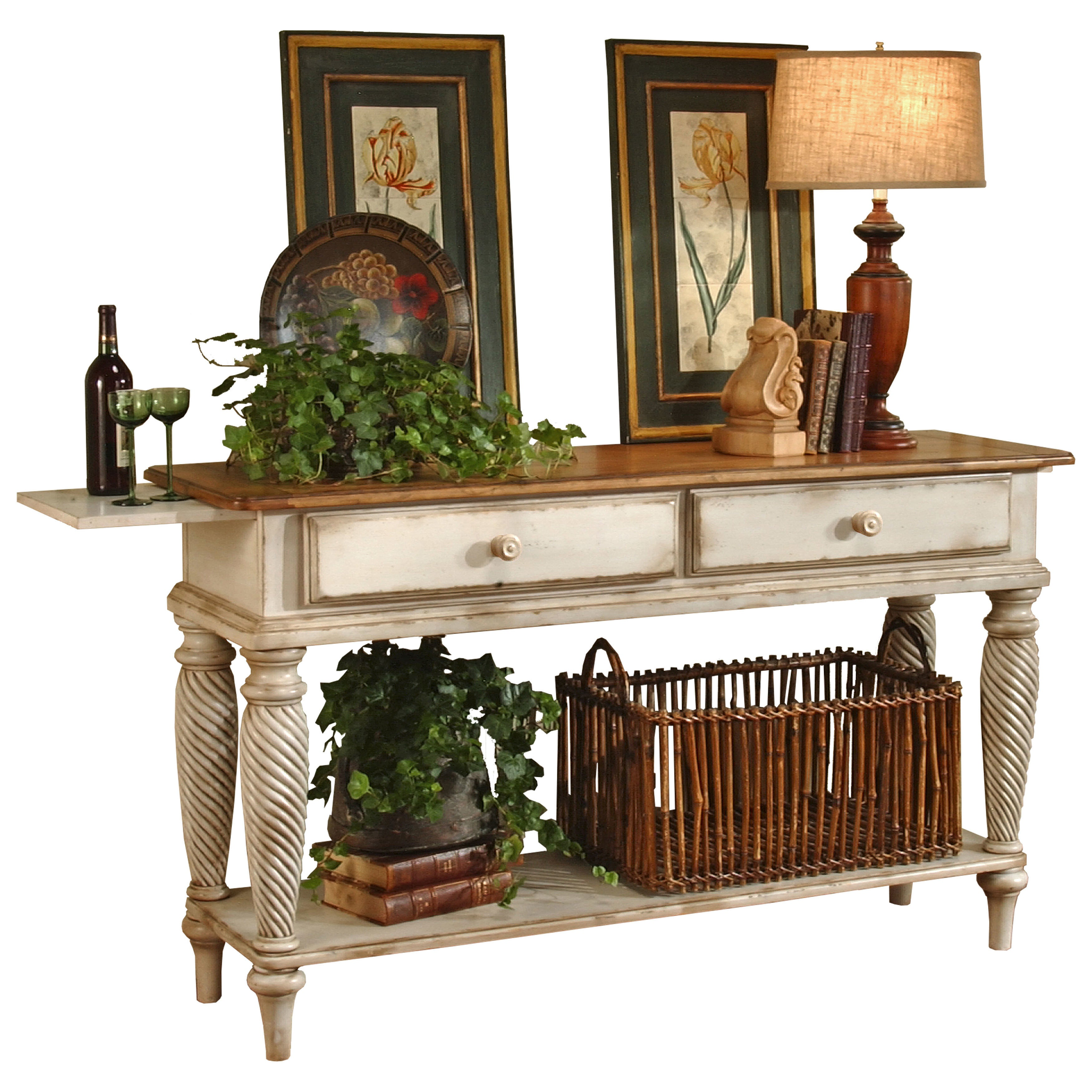 Hillsdale Furniture Wilshire Sideboard in Antique White F...