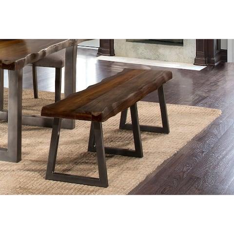 Hillsdale Furniture Emerson Grey Sheesham Bench