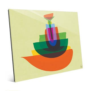 Persimmon Stacked Mod Dishes Wall Art on Acrylic