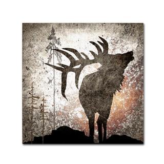 LightBoxJournal 'Calling Elk' Canvas Art