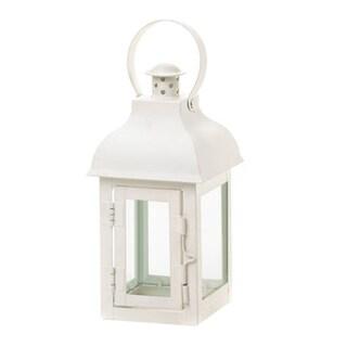 koehler home decor white gable lantern - Koehler Home Decor