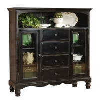 Hillsdale Furniture Wilshire Four Drawer Baker's Cabinet in Rubbed Black Finish