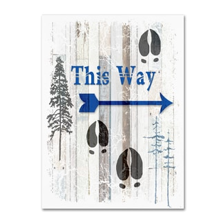 LightBoxJournal 'The Blue Moose - This Way I' Canvas Art