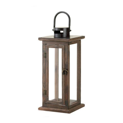 Koehler Home Decor Indoor Perfect Lodge Wooden Lantern
