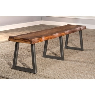Hillsdale Furniture Natural Sheesham Emerson Bench