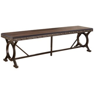 Hillsdale Furniture Brown Wood and Metal Paddock Bench