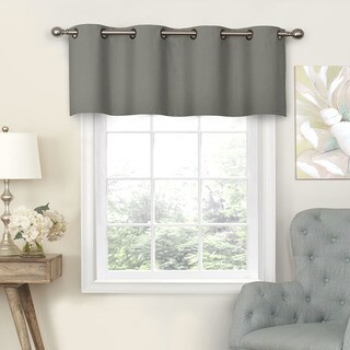 Eclipse Nadya Solid Blackout Window Valance