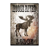 LightBoxJournal 'Lodge Moose River Lodge' Canvas Art
