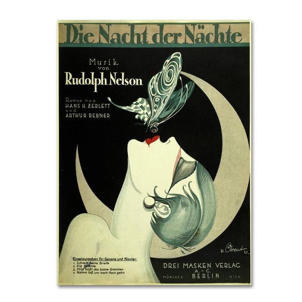 Vintage Apple Collection 'Art Deco Music Sheet' Canvas Art